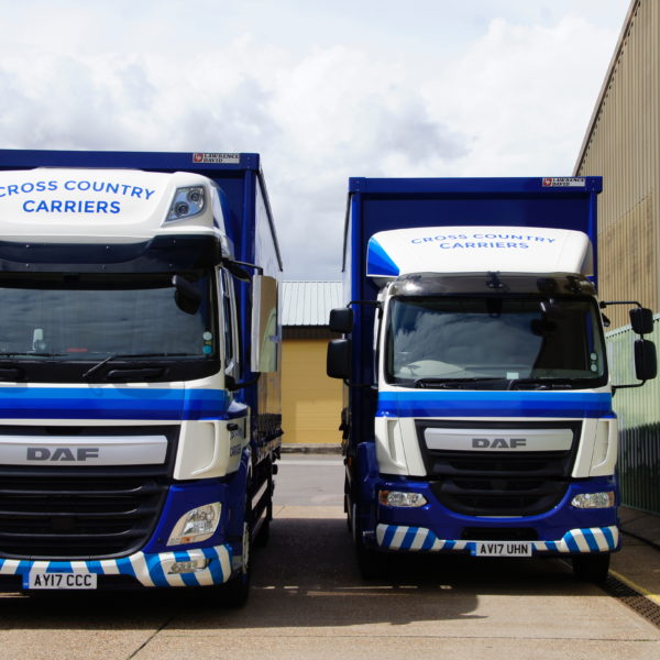 2 18t rigid vehicles standing together