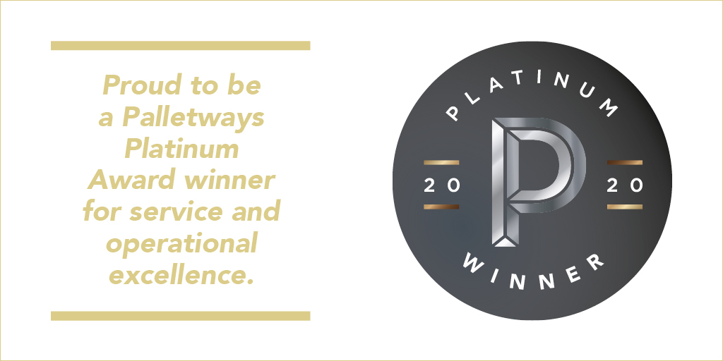 Palletways Platinum Award Winners 2020